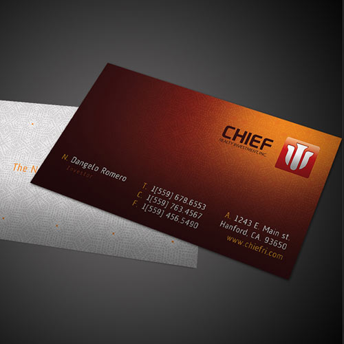 Chief Realty Investment, Inc Business Card