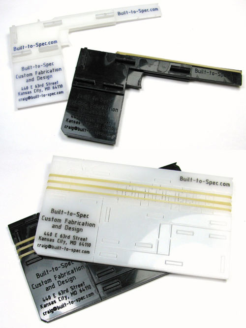 Rubber Band Gun Design Business Card