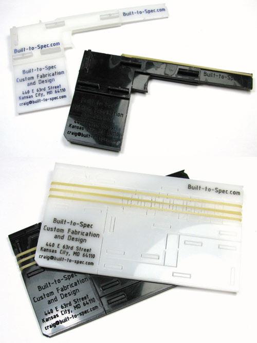 Rubber Band Gun Design Business Card