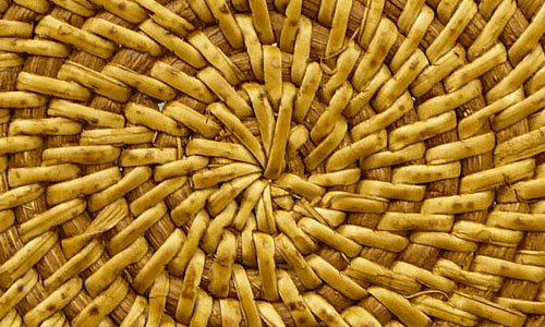 Wood Reed Basket Weave Texture