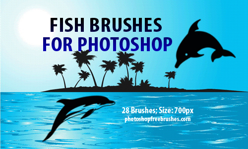 28 Fish Clip Art Photoshop Brushes
