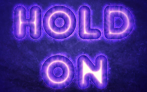 Purple Glow Text Effect