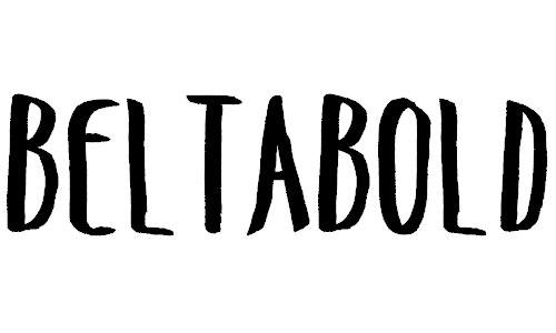 Belta Bold font
