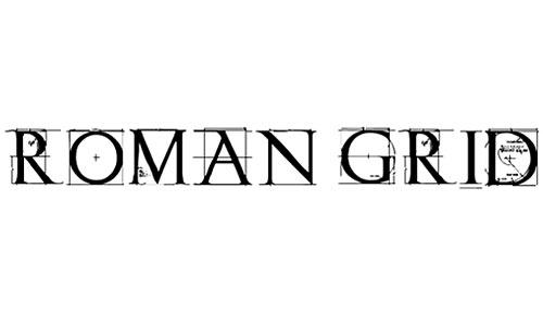 Roman Grid Caps font