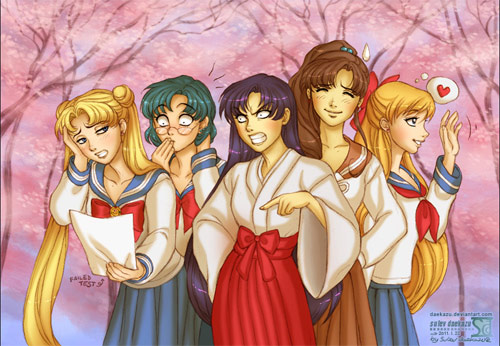 sailor moon school girls
