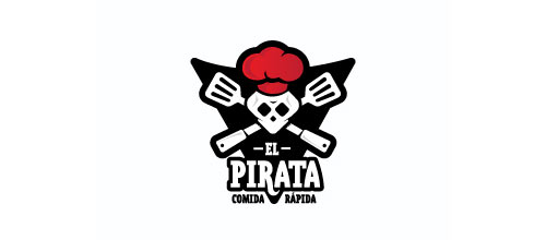 THE PIRATE | fast food logo