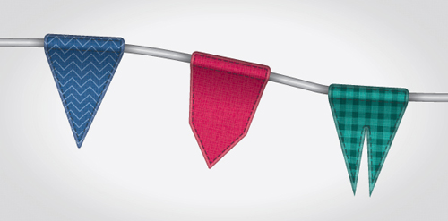 Create a Textured Bunting Decoration with Adobe Illustrator