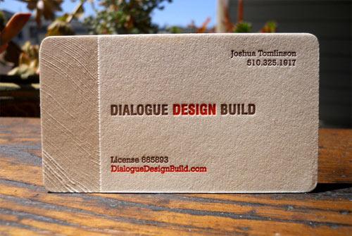 Dialogue Design Build Business Card