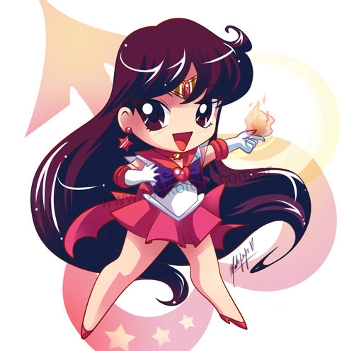 chibi super sailor mars