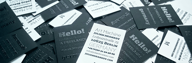 A New Collection of Black Business Cards for your Inspiration
