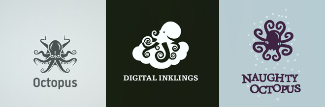 30+ Eye-catching Designs of Octopus Logo