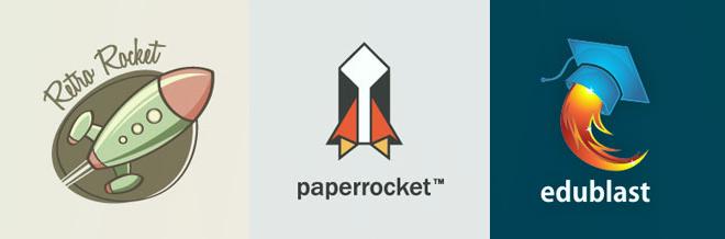 33 Creative Examples of Rocket Logo