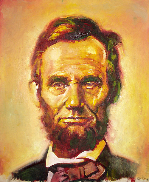 Painting abraham lincoln artwork illustration