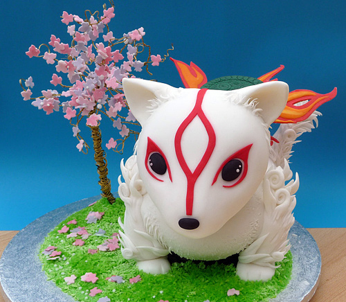 Chibi okami cute unusual cake design cool