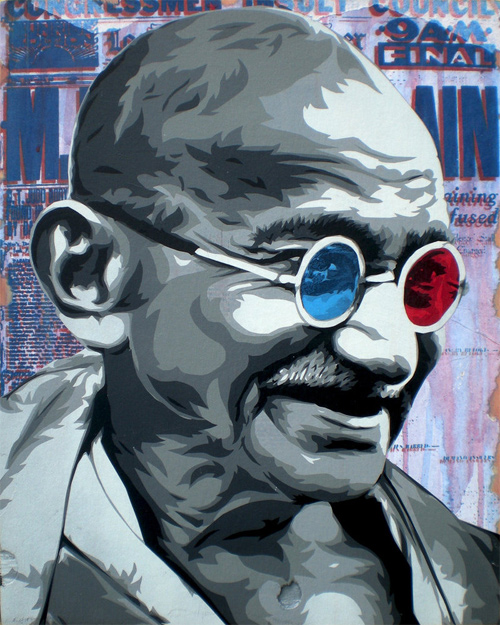 gandhi artwork picture illustration pop