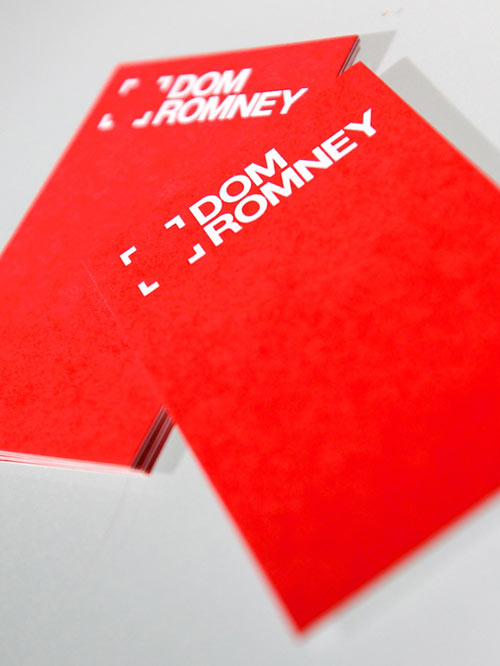 Dom Romney Photographer Business Card