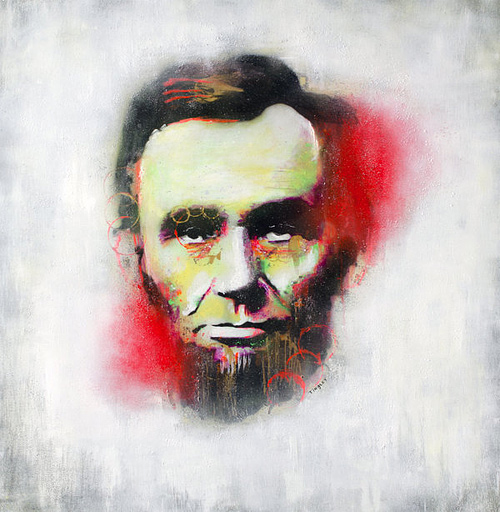 Abstract graffiti abraham lincoln artwork illustration