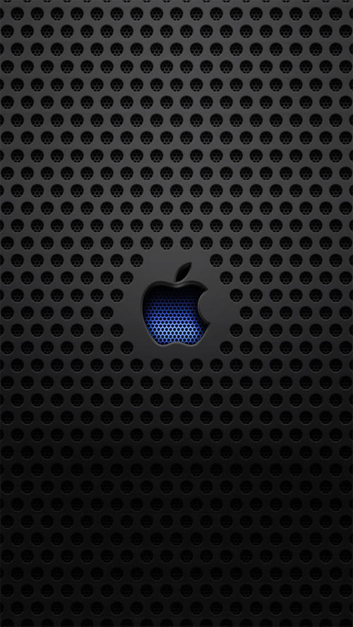 Apple Logo Metal Texture iPhone 5 Wallpaper