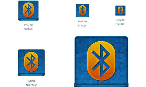 Blue Bluetooth Coloured Icon