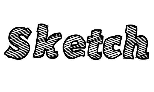 Sketch Coursive font