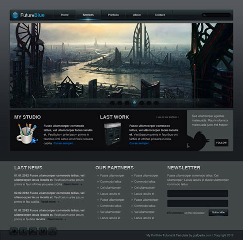 HOW TO DESIGN THE FT BLACK & BLUE WEBLAYOUT