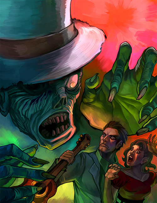 Nice zombie halloween artwork illustration