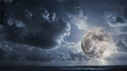 Sea cool moon wallpaper