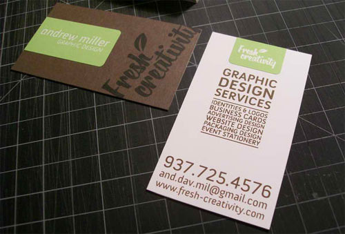 Fresh Creativity Business Cards