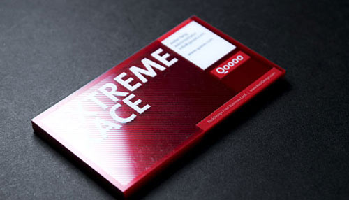 Clear & Transparent Business Card
