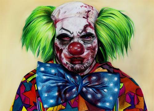 Clown zombie halloween artwork illustration