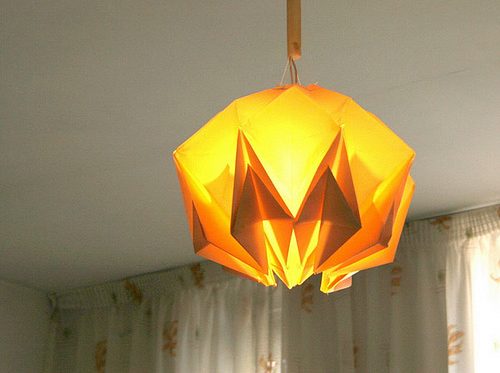 Lamp shade light origami artwork paper design