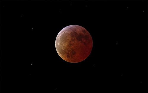 Red blood new cool moon wallpaper