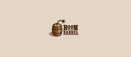 Boom-barrel logo