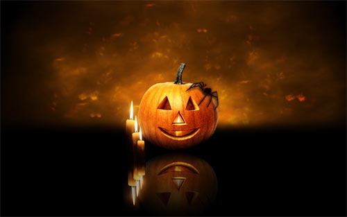 Pumpkin and candels wallpapers
