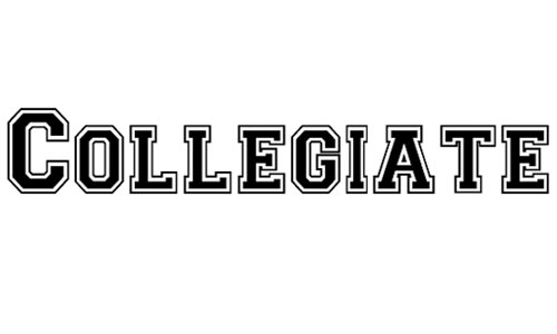 Collegiate Heavy Outline font