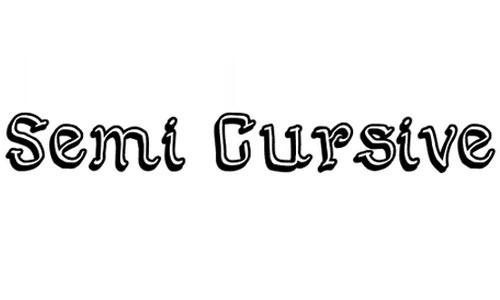 Semi Cursive Gut font