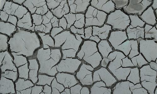 Grey dry crack mud texture