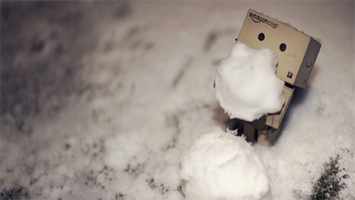 danbo photography cute snowman ice