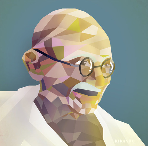 gandhi artwork picture illustration abstract