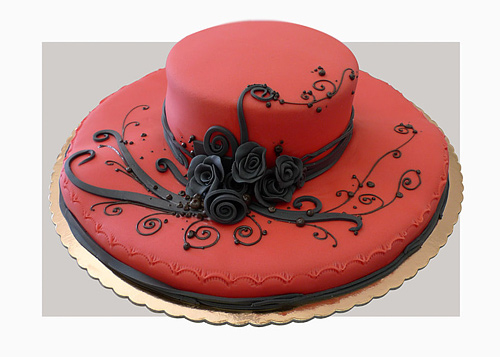 Red hat beautiful unusual cake design cool