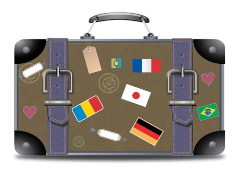 Travel Suitcase In Illustrator