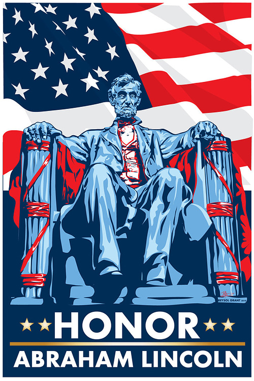 Vector pop abraham lincoln artwork illustration
