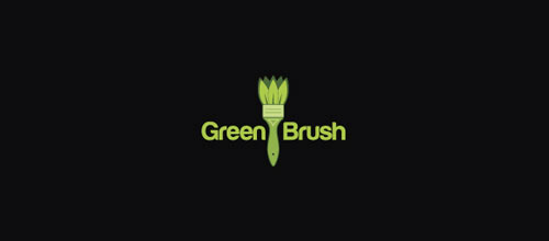 Green Brush logo