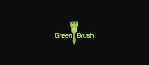 Green Brush logo