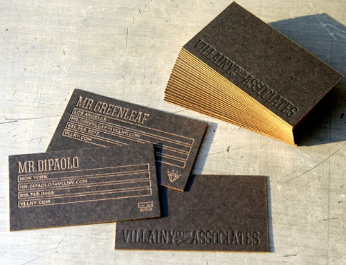 Villainy and Associates Business Cards