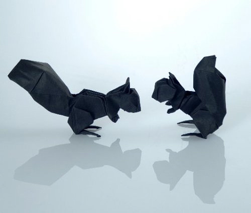 Squirrel origami artwork paper design