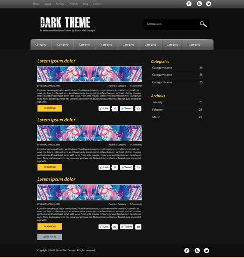 Design a Dark & Minimal WordPress Theme in Photoshop (Free PSD)