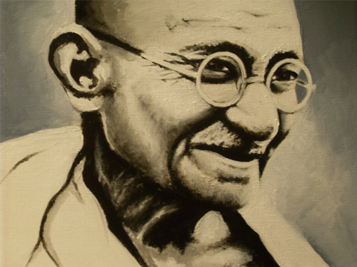 Gandhi acrylic canvas artwork picture illustration