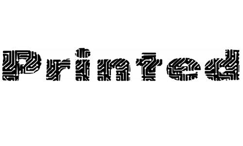 PrintedCircuit font