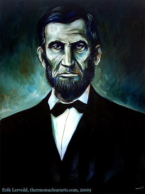 Beautiful painting abraham lincoln artwork illustration